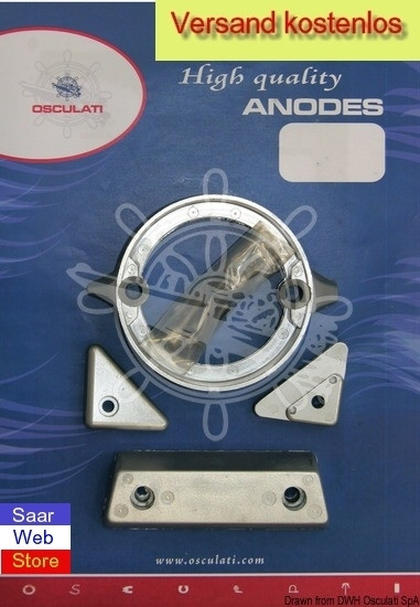 Anoden-Set f. Volvo-Motoren 290 DP Magnesium