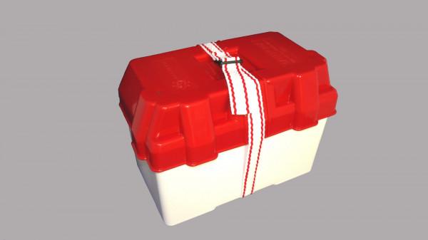 Batteriekasten, Moplen weiß/rot 100 A