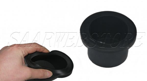 Schwingungsdämpfender Glashalter aus Gummi schwarz