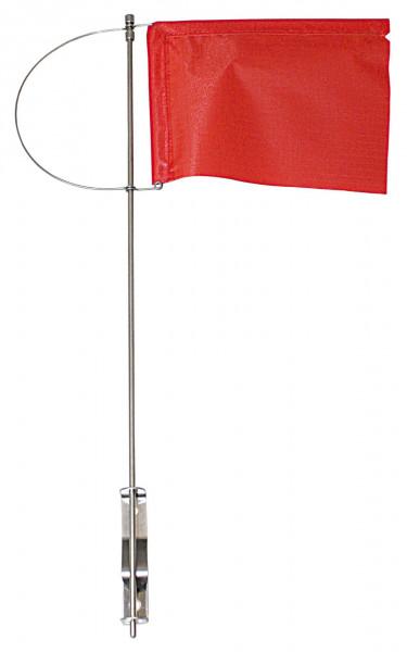 Verklicker Windrichtungsanzeige mit Seitenhalter und Tuch rot