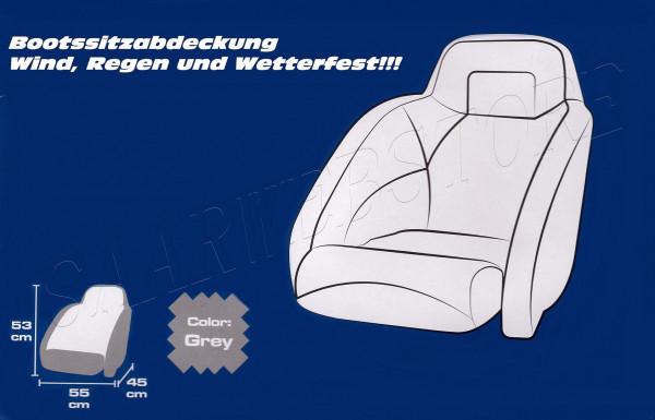 Stoffabdeckung f. Bootssitze 45x55x53cm grau 300D