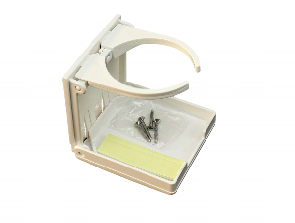 Kunststoff-Glashalter, klappbar 100x95 mm