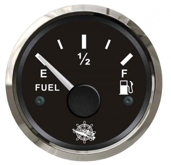 Treibstoffstandsanzeige 240/33 Ohm schwarz/poliert