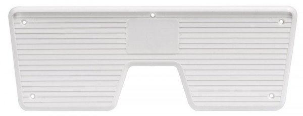 Heckschutzplatte, weiß 230x85 mm