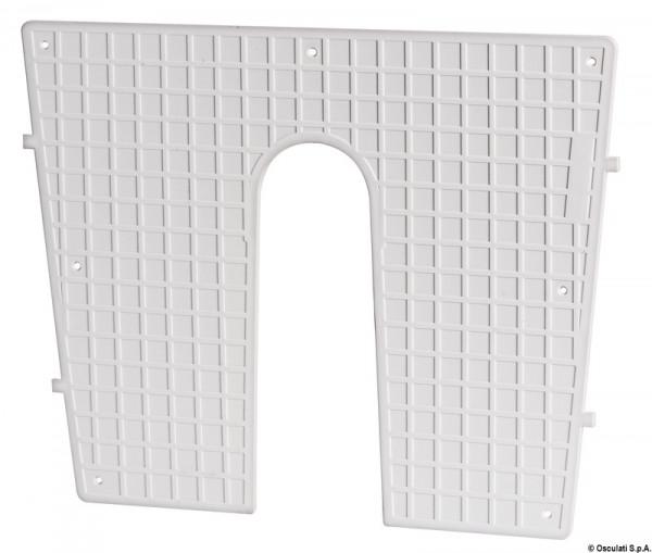 Heckschutzplatte, weiß 430x350 mm