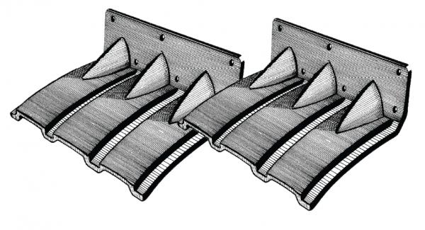 Trimmklappen Polyethylen selbstanpassend 365x245mm