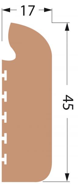 DEK-KING Stufenprofil 5m ungesandet
