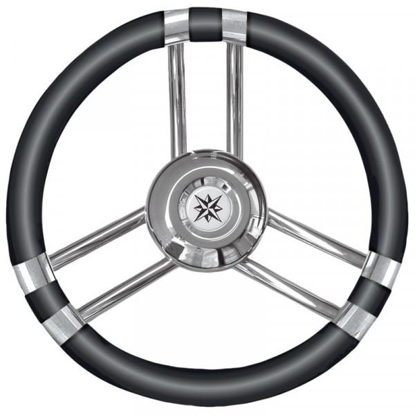 C Steuerrad Polyurethan weich schwarz/VAStah 350mm