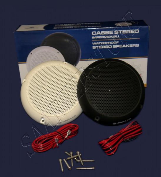 Paarweise 2-Wege-Lautsprecher 150mm 60W weiß