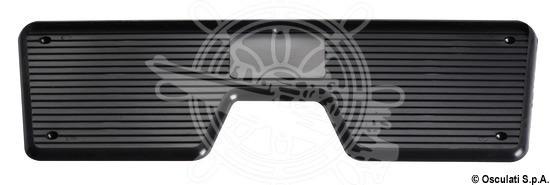 Heckschutzplatte, schwarz 230x85 mm