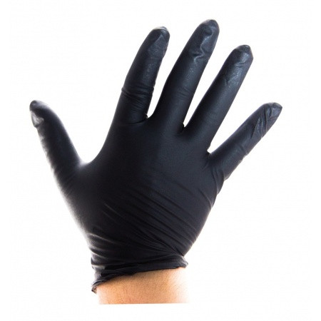 100x Handschuhe Nitril schwarz ph5.5