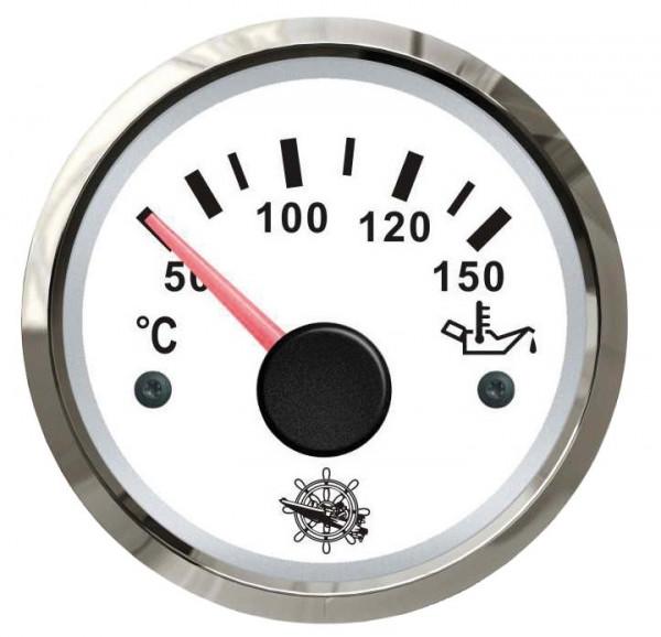 Öltemperaturanzeige 50/150° weiß/poliert