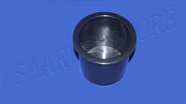 Einbauglashalter aus ABS, schwarz